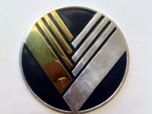 Badge, enamel, Eunos Nosecone, V-design, 55mm, blue/gold/silver